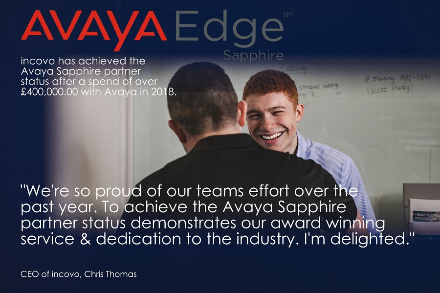 Incovo awarded exclusive Avaya Sapphire Partnership status